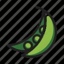 food, pea, vegetable icon