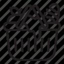 basket, food, picnic