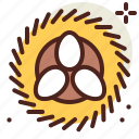 egg, gardening, nest, seasonal, spring icon