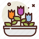 flowers, gardening, seasonal, spring icon