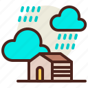 farm, gardening, rain, seasonal, spring icon