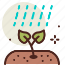 gardening, rain, seasonal, spring icon