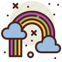 gardening, rainbow, seasonal, spring icon
