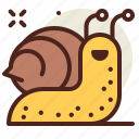 gardening, seasonal, snail, spring icon