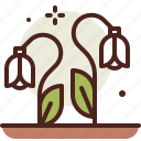 gardening, seasonal, snowdrops, spring icon