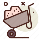 gardening, seasonal, spring, wheelbarrow icon