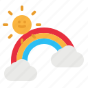 nature, rainbow, spectrum, sun, weather icon
