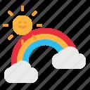 nature, rainbow, spectrum, sun, weather