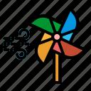 mill, pinwheel, toy, wind, windmill