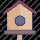 bird, birdhouse, build, home, house, wood icon