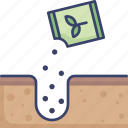 ground, nature, packet, plant, planting, seeds icon