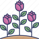 floral, flower, leaf, leaves, nature, plant, roses icon