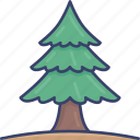 ecology, forest, nature, oak, pine, tree icon