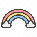 cloud, rainbow, forecast, weather