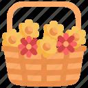 basket, flower, nature, blossom, pot, botanical, plant