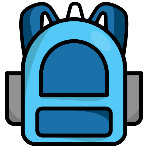 backpack, rucksack, schoolbag, travel icon