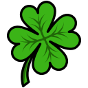 clover, four, leaf icon