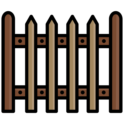 fence, helloween, palisade, picket fence icon