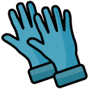 christmas, cleaning, cleaning gloves, clod, gardening, gloves, wearing icon