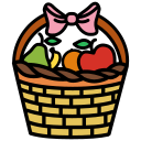 basket, food, fruit, garden, harvest, natural icon