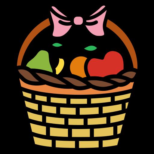 basket, food, fruit, garden, harvest, natural icon