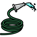 agriculture, garden, hose, tool, water, watering icon