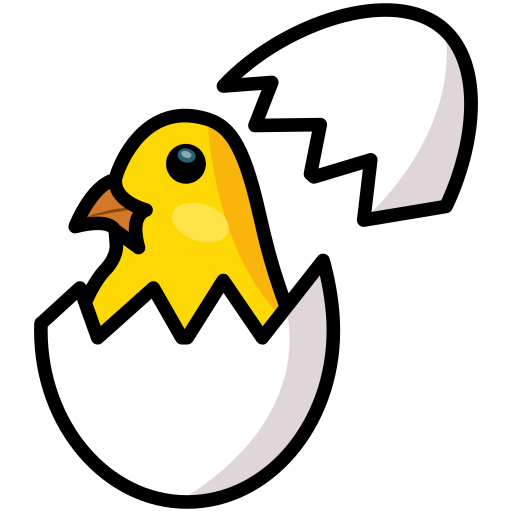 Chicken, chickling, easter, egg, shell, spring icon - Free download