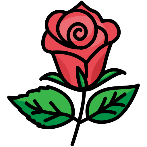 flower, love, nature, plant, rose, valentine day icon