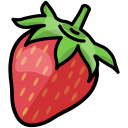healthy, spring, fruit, strawberry icon