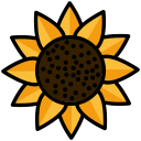garden, nature, sunflower icon