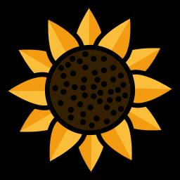 garden, nature, sunflower icon