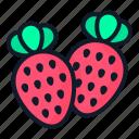 strawberry, fruit, food, nature