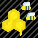 honey, bee, spring, honeycomb