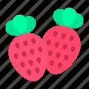 strawberry, fruit, nature, spring