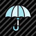 umbrella, rain, weather, spring, nature, season