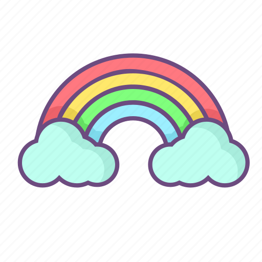 Rainbow, cloud, spring, sky, weather icon - Download on Iconfinder