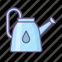 watering can, water, garden, spring, drop