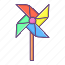 windmill, paper, turbine, pinwheel, toy