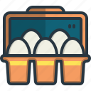 eggs, farm, organic, food, carton, tray