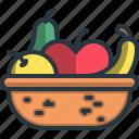 fruit, vegan, healthy, food, diet, basket