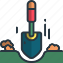gardening, digging, shovel, garden, tool, soil
