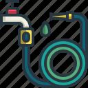 hose, water, tool, garden, farm