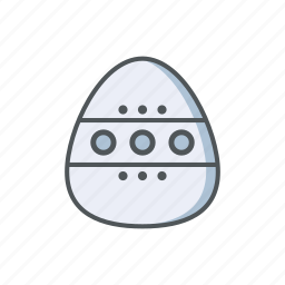 easter, egg, filled, ornament, outline, spring icon