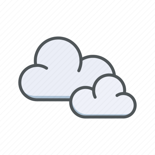 cloud, cloudy, filled, outline, spring, weather icon