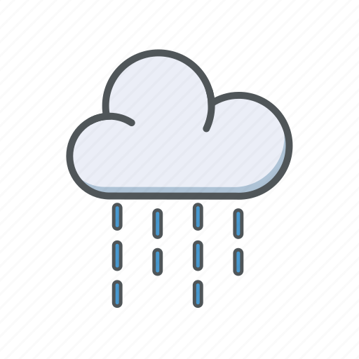 cloud, filled, outline, rain, spring, weather icon