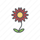 filled, flower, flowers, outline, spring, summer icon