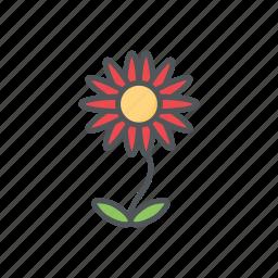 filled, flower, flowers, outline, spring, summer icon