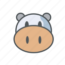 cow, farm, filled, milk, outline, spring icon