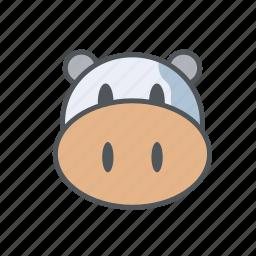 cow, farm, filled, milk, outline, spring icon