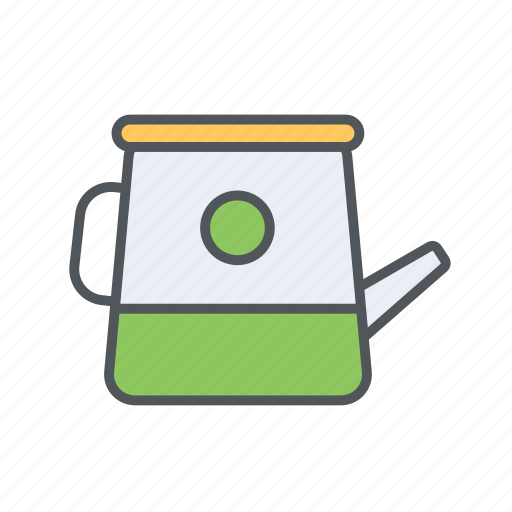 can, crop, filled, outline, spring, water icon